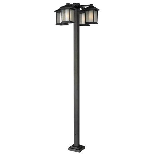 "Z-Lite Mesa 4 Light 99"" Outdoor Post Lantern Set"