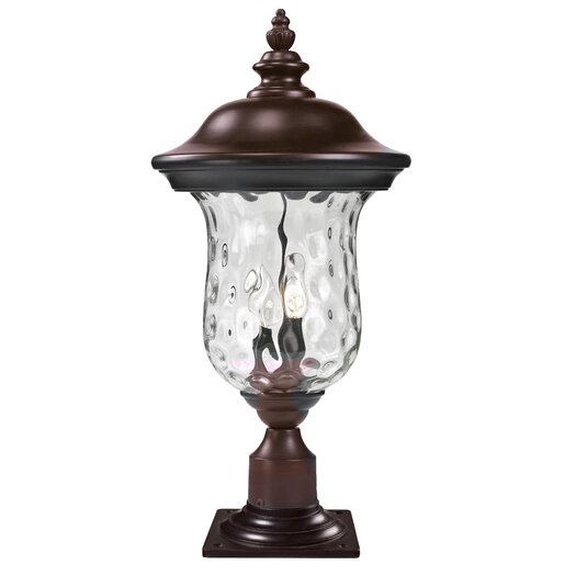 "Z-Lite Armstrong 2 Light 23.25"" Outdoor Post Lantern"
