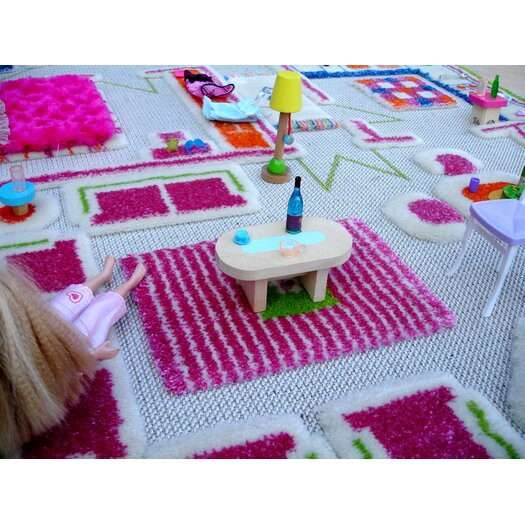 Luca and Company IVI Carpet - 3D Playhouse Green Play Rug