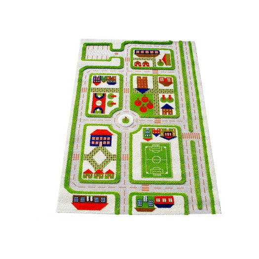 Luca and Company IVI Carpet - 3D Traffic Green Play Rug