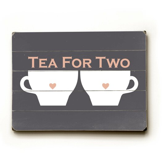 Artehouse LLC Tea for Two Wood Sign