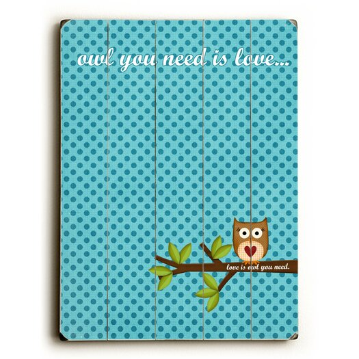 Artehouse LLC Owl You Need is Love Wood Sign