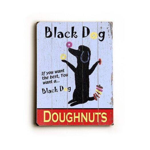 Artehouse LLC Black Dog Vintage Advertisement Plaque