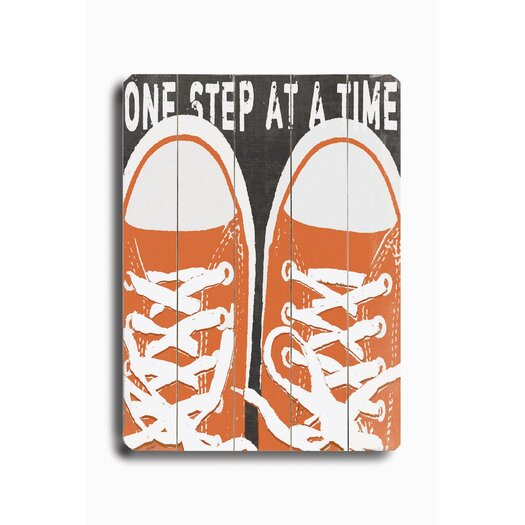 Artehouse LLC One Step at a Time Planked Sign Graphic Art Plaque