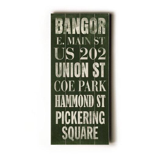 Artehouse LLC Bangor Transit Textual Art Plaque