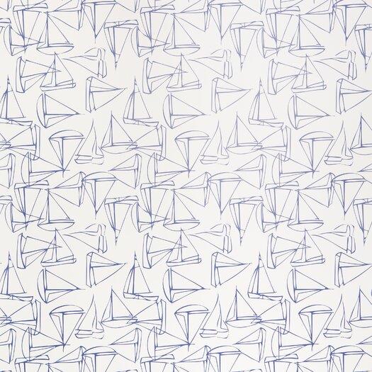 Kimberly Lewis Home Set Sail Geometric Wallpaper