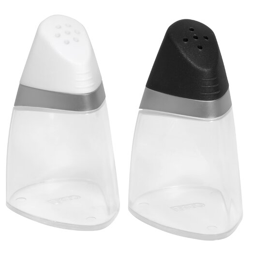 EKCO Salt and Pepper Shakers with Gray Handle