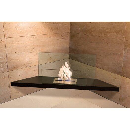 Corner Flame Ethanol Fireplace