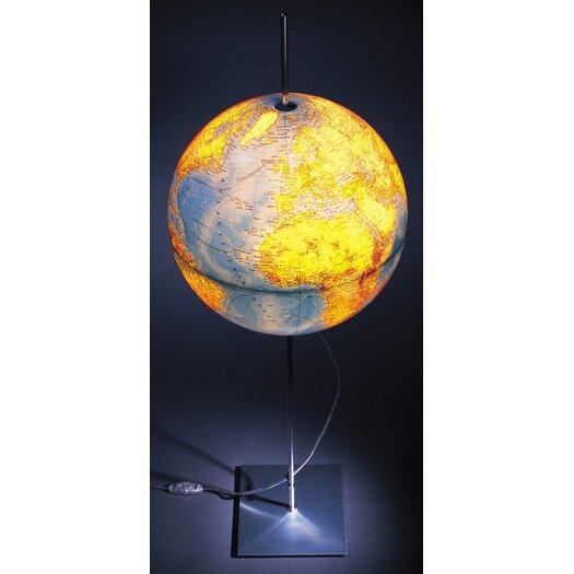 "Absolut Lighting Globe Earth German Lettering 35.5"" Table Lamp"
