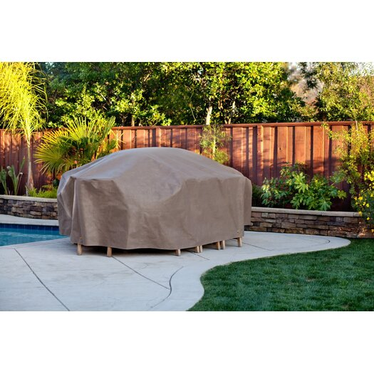 Duck Covers Rectangle Patio Table & Chair Set Cover