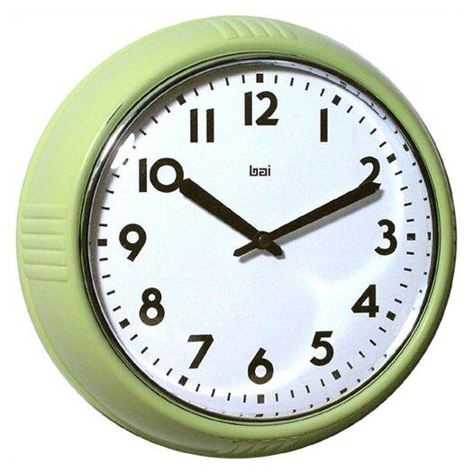 "Bai Design 8.3"" Too Cool for School Retro Modern Wall Clock"