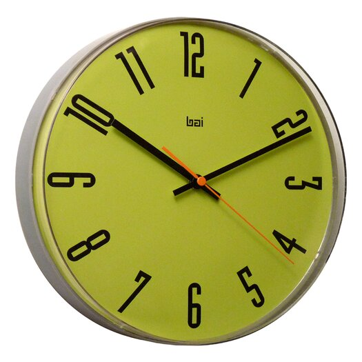 "Bai Design 11"" Lucite Wall Clock"