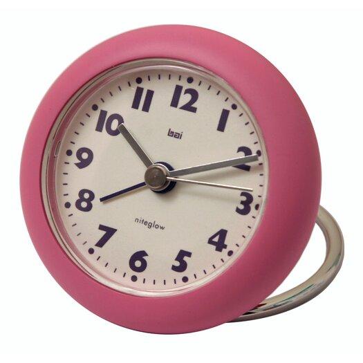 Bai Design Rondo Travel Alarm Clock in Pink