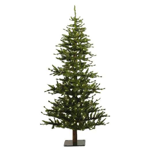 Vickerman Co. Minnesota Pine 6' Green Artificial Half Christmas Tree with 200 Clear Lights with Stand