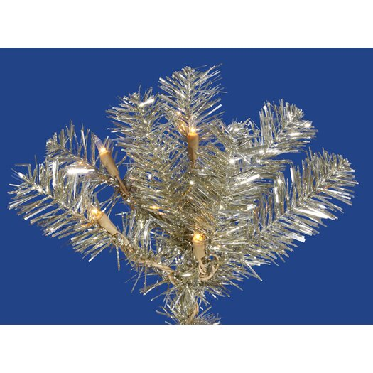 Vickerman Co. Champagne Pencil 4.5' Artificial Christmas Tree with 150 Clear Lights