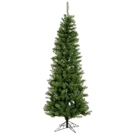 Vickerman Co. Salem Pencil Pine 8.5' Green Artificial Christmas Tree with Stand