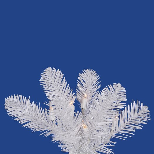 Vickerman Co. White Salem Pencil Pine 9.5' Artificial Christmas Tree with 450 LED Warm White Lights with Stand