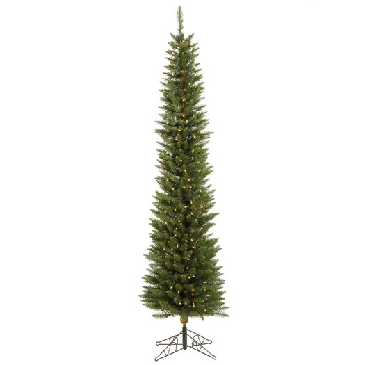 Vickerman Co. Durham Pole Pine 6.5' Green Artificial Christmas Tree with 180 LED Warm White Lights with Stand
