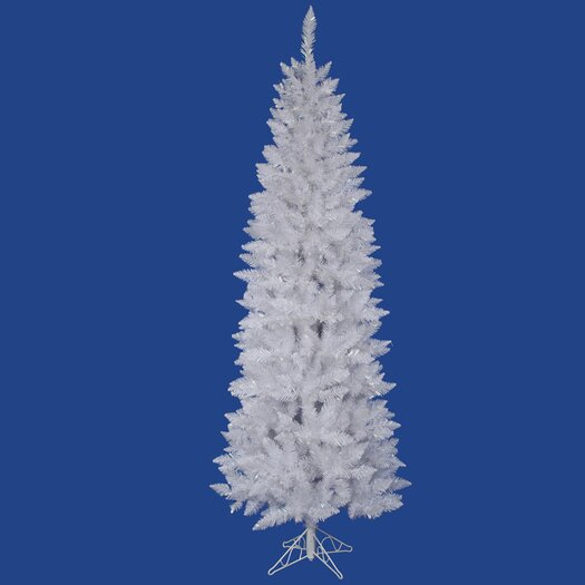 Vickerman Co. Crystal White Spruce Pencil 7.5' Artificial Christmas Tree with Stand