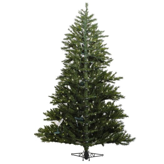 Vickerman Co. Minnesota Pine Westbrook 6.5' Green Artificial Half Christmas Tree with 400 Clear Lights with Stand