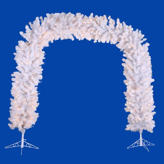 Vickerman Co. Crystal White 8' Artificial Arch Tree with Clear Lights
