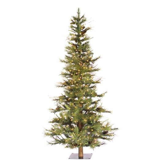 Vickerman Co. Ashland Fir 6' Green Artificial Christmas Tree with 450 Clear Lights with Stand