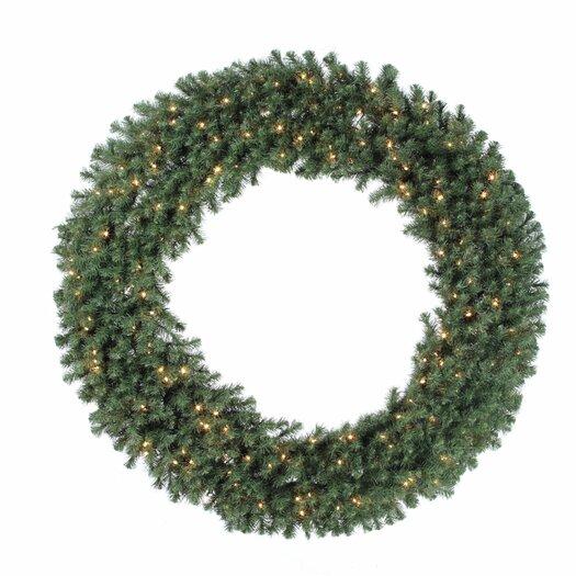 "Vickerman Co. Douglas Fir 100"" Wreath with Clear Lights"