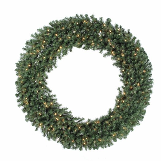 "Vickerman Co. Douglas Fir 72"" Wreath with Clear Lights"