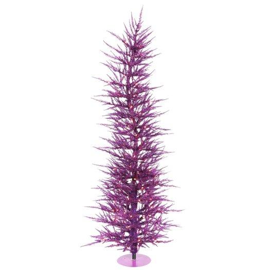 Vickerman Co. Purple Wreath and Garland 4' Purple Artificial Christmas Tree with 70 Purple Lights