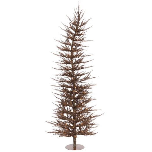 Vickerman Co. Colorful Laser 5' Mocha Artificial Christmas Tree with 100 Clear Pink Lights