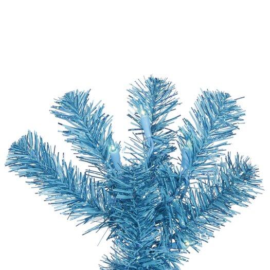 Vickerman Co. Pencil 9' Sky Blue Artificial Christmas Tree with 550 Sky Blue Lights