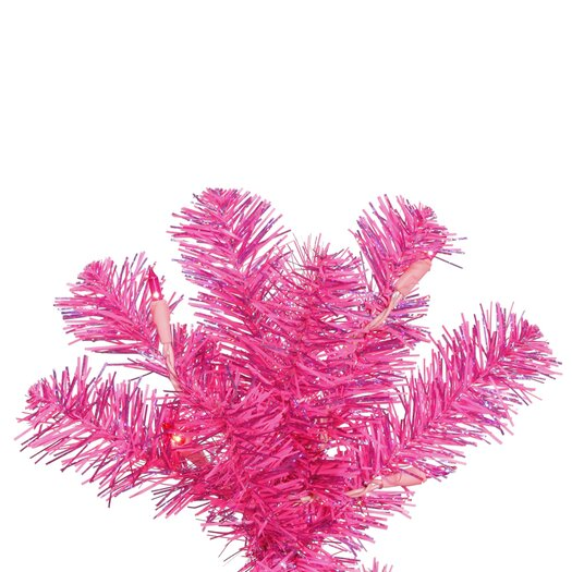 Vickerman Co. 7.5' Pink Artificial Christmas Tree with 400 Pink Mini Lights