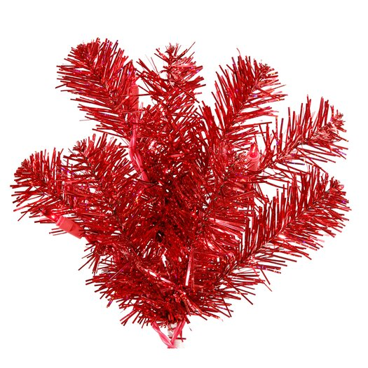 Vickerman Co. 6' Red Artificial Christmas Tree with 350 Red Mini Lights