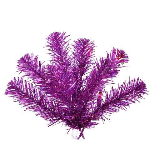 Vickerman Co. 5' Purple Artificial Christmas Tree with 200 Purple Mini Lights