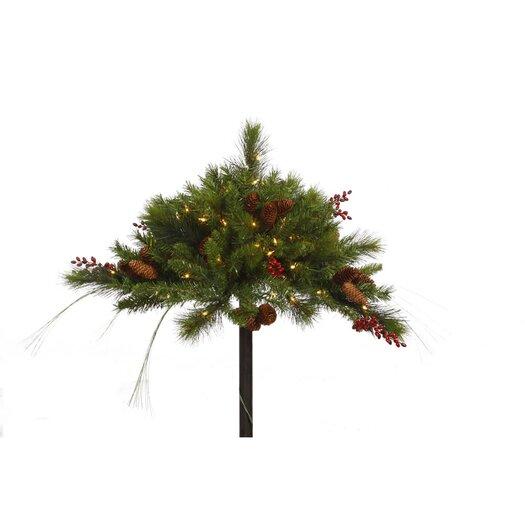 Vickerman Co. Mixed Berry Cone Urn Filler with 100 Lights