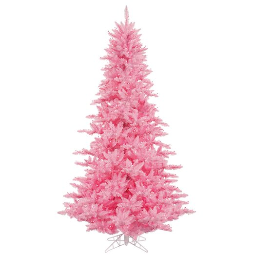 Vickerman Co. 6.5' Pink Fir Artificial Christmas Tree with 600 Mini Clear Lights
