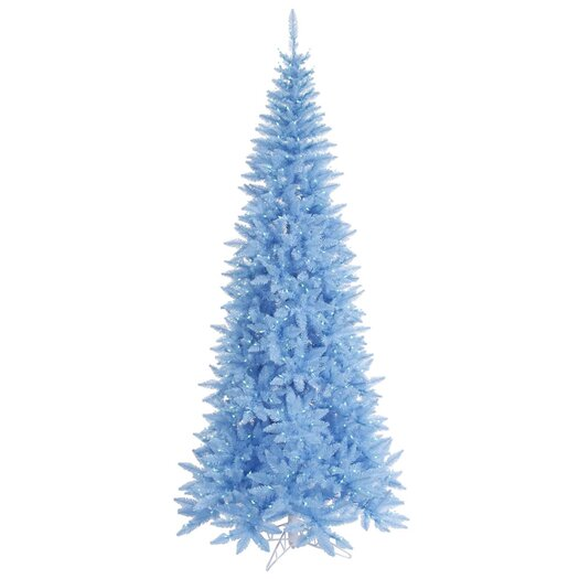 Vickerman Co. 5.5' Sky Blue Slim Fir Artificial Christmas Tree with 300 Mini Lights