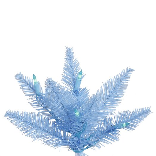 Vickerman Co. 7.5' Sky Blue Slim Artificial Christmas Tree with 500 Mini Lights