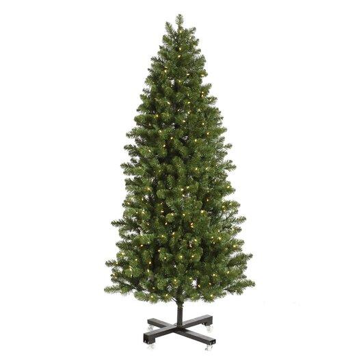 Vickerman Co. Grand Teton 9.5' Slim Green Artificial Christmas Tree with 1000 LED White Lights