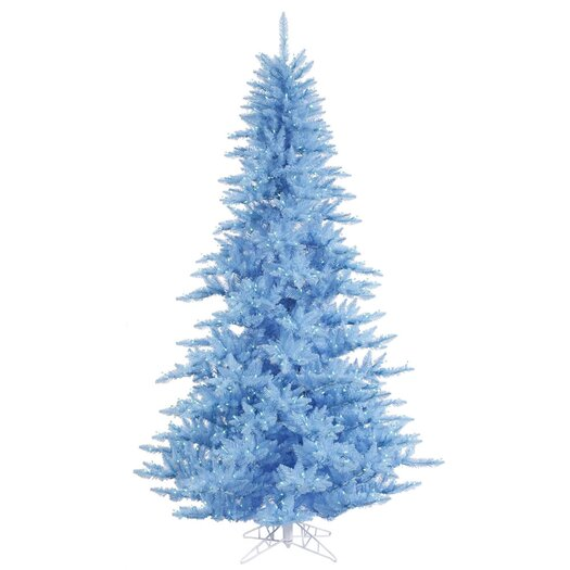 Vickerman Co. 6.5' Sky Blue Fir Artificial Christmas Tree with 600 Mini Clear Lights