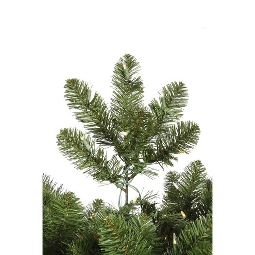 Vickerman Co. Grand Teton 7.5' Slim Green Artificial Christmas Tree with 650 LED White Lights