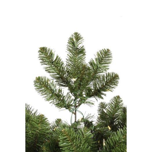Vickerman Co. Grand Teton 9.5' Medium Green Artificial Christmas Tree with 1150 LED White Lights