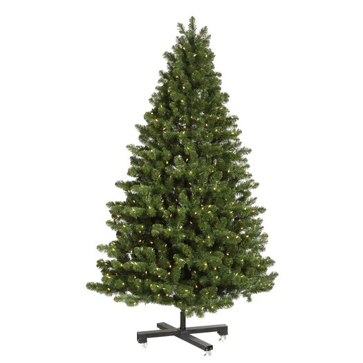 Vickerman Co. Grand Teton 7.5' Medium Green Artificial Christmas Tree with 750 LED White Lights