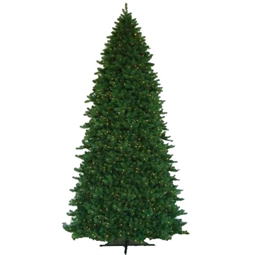 Vickerman Co. Grand Teton 12' Green Artificial Christmas Tree with 2100 LED White Lights