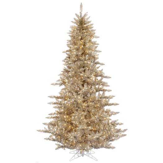Vickerman Co. 6.5' Champagne Fir Artificial Christmas Tree with 600 Mini Clear Lights