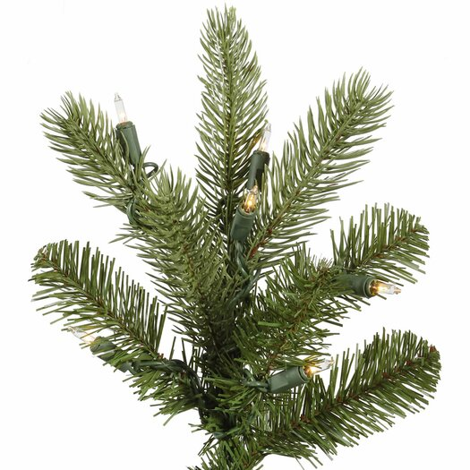 Vickerman Co. King 9' Green Spruce Artificial Christmas Tree with 850 Dura-Lit Clear Lights with Stand