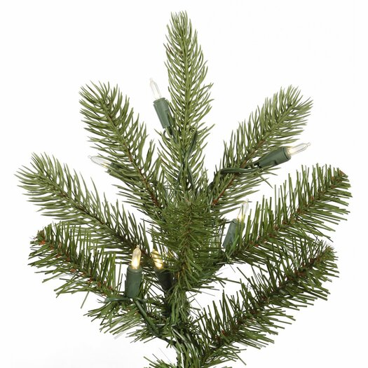 Vickerman Co. King 9' Green Spruce Artificial Christmas Tree with 850 LED Warm White Lights with Stand