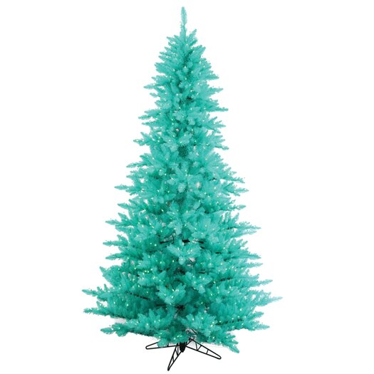 Vickerman Co. 6.5' Aqua Fir Artificial Christmas Tree with 600 Mini Clear Lights