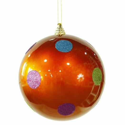 Vickerman Co. Candy Polka Dot Ball Ornament