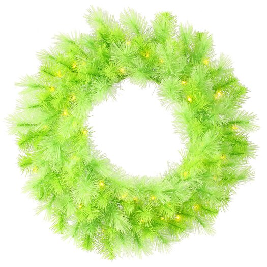 Vickerman Co. Cashmere Wreath with 50 Dura-Lit Lights